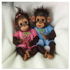 Ashton Drake - HE DID IT, SHE DID IT monkey doll twins by Cindy Sales