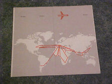 VINTAGE SWISSAIR FLIGHT ROUTE MAP AND OTHER INFORMATION BROCHURE