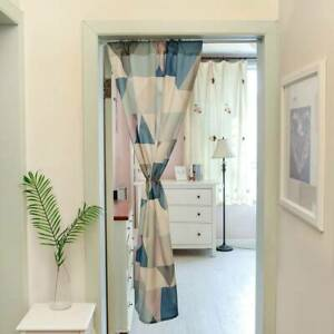 Kitchen Geometric Printed Cotton Linen Curtain Panel Doorway Curtain Tapestry L