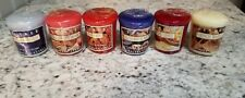 Yankee Candle Company Various Scented Votive Candles Lot Of 6