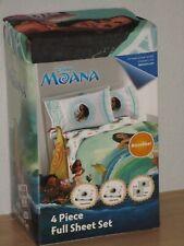 Disney Moana 4 Piece Full Sheet Set 100% Microfiber Jay Franco Brand New Package