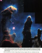 NASA Photographic Card Print of Gas Pillars of the Eagle Nebula M16 (2004)