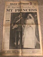 Vintage Daily Express Princess Anne Mark Phillips Wedding 15Th November 1973