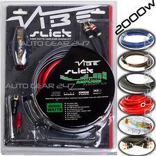 Vibe Slick 4 Awg Jauge VSAWK 4-V1 2000 W Voiture Van Audio Ampli Amplificateur Câblage Kit