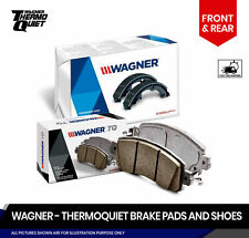 Front and Rear Thermoquiet Brake Pads plus Shoes For Honda Civic DX, LX, SE, HF