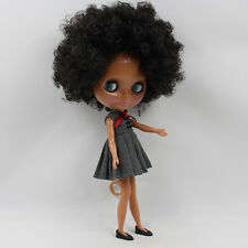 """12"""" Nude Blythe Doll from Factory black short curly hair dark skin free shipping"""