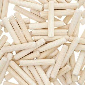 Beveled Wood Dowel Rod Pins (100 Count) for furniture repairs DIY craft