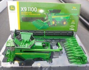 2021 FARM SHOW ERTL 1:64 John Deere *TRACKED* X9 1100 COMBINE w/BOTH HEADS NIB!