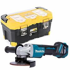"Makita DGA517 18V Brushless Angle Grinder 125mm With 22""/56cm Tool Storage Box"