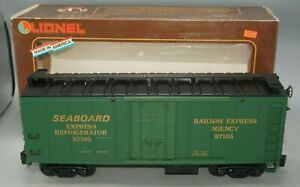 LIONEL LARGE SCALE SEABOARD RAILWAY EXPRESS REEFER 8-87105