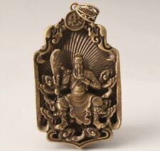 RETRO CHINESE BRONZE PENDANT GUAN GONG MASCOT DECORATED COLLECTION GIFT
