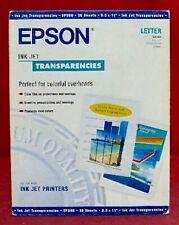S041064 Genuine Epson Clear Transparency Film InkJet Printers Transparencies @