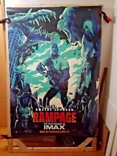 Rampage (2018) IMAX DS 2 Sided 4 x 6 Bus Shelter Poster Rock Mondo Artwork