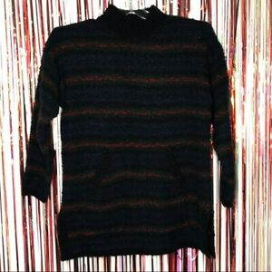Jones of New York Purple Cable Knit Sweater with Pearls Size 2X Vintage Plus Size Sweater