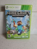 Minecraft (Microsoft Xbox 360, 2013) case/disc tested works 8/10 free ship build