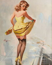 Gil Elvgren Dampened Doll Giclee Canvas Print Paintings Poster Reproduction