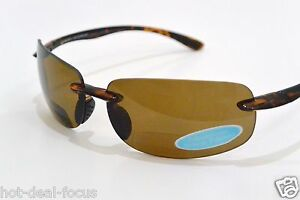 POLARIZED BIFOCAL READING SUNGLASSES with POLYCARBONATE LENS powers +2.50 +3.00