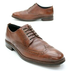 Cole Haan Men's 10 M Grand OS Watson Brown Leather Wingtip Oxfords