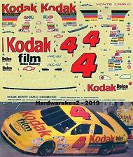 NASCAR DECAL # 4 KODAK 1995 NASCAR MONTE CARLO STERLING MARLIN 1/24