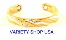Woven Combo Alloy Magnetic Adjustable Band Two Tone Toe Ring Gold/Silver MTR-F