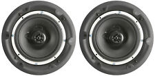 """Bluetooth Ceiling Speakers Pair Active & Passive 6.5"""" Simple To Fit Low Profile"""