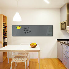 Glas-Magnettafel DekoGlas 150x40 Magnetwand Pinnwand Schreibtafel Grau 52073