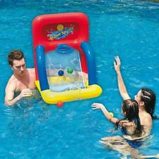 "34"" Inflatable Swimming Pool Water Sports Basketball Shooting Game"