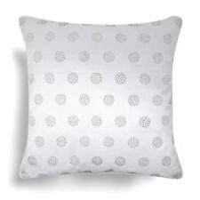 "Taylor Cushion Cover Diamante Circle Velvet Sparkle Bling Covers White 17"" x 17"""
