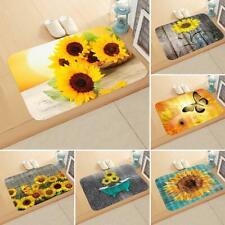 Non-slip Sunflower Doormat Kitchen Bedroom Bath Floor Mat Rug Carpet