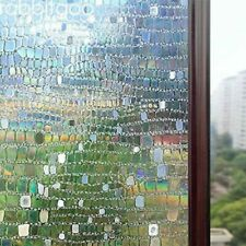 """Rabbitgoo Window Glass Film Static Cling 3D Pebble for Home&Office 17.5""""X78.7"""""""