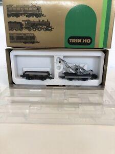 Spur H0  Trix 23517 Kranwagen-Set der K.Bay. S`T'S Bahn in OVPNeuwertig