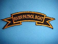 VIETNAM WAR SCROLL PATCH, US RIVER PATROL BOAT