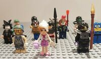 LEGO Genuine MiniFigures 10 Mixed Character Mini Figures with Accessories