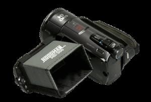 Hoodman HD-300 LCD Hood for 2.5 - 3 inch Screen. Suits 16:9 hd Video Cameras