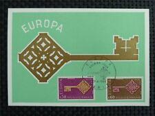 France MK 1966 Europe CEPT maximum Carte CARTE MAXIMUM CARD MC cm c2505