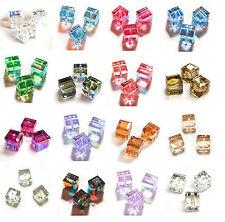 SWAROVSKI CRYSTAL Element  5601 CUBE Bead AB Many Color / Size #1