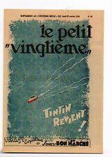 Carte Postale Tintin. Le Petit Vingtième n°43 de 1932. Tintin revient - réf F/32