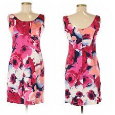 New York & Company $90 Womens Dress Floral Sleeveless Lined Midi Pencil Size 8