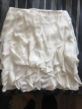 Reiss Ruffle Off White Layered Tiered Flouncy Bubble Mini Skirt Size 10