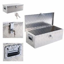 "30 ""aluminum alloy truck pickup bed trailer lockable tool box with lock"