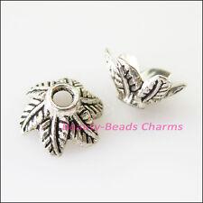 30Pcs Tibetan Silver 6Leaf - Flower End Bead Caps Connectors 11mm