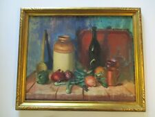 LARGE VINCENT FARRELL PAINTING AMERICAN IMPRESSIONIST STILL LIFE LISTED LARGE