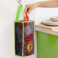 Hanging Mesh Garbage Bag Organizer Dispenser Kitchen Wall Mount Reusable Bag