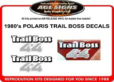 POLARIS TRAIL BOSS  4X4  ATV  DECAL SET, 1 PAIR reproduction 1980's