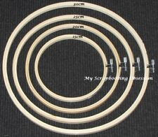 EMBROIDERY BAMBOO HOOPS (You choose size) Needlecraft/Craft/Cross Stitch Hoop