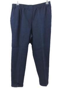 "Alia pants jeans size 16P elastic waist blue 2 pockets pull on 27"" inseam"