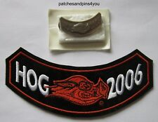 Harley Davidson HOG 2006 Patch & Pin Set **NEW** FREE U.K. POSTAGE!