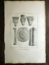 Lithographie FRAGONARD Château Harcourt Lillebonne VOYAGE PITT. Taylor NORMANDIE