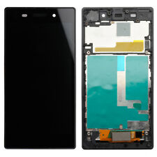 For Sony Xperia Z1 C6903 LCD Display Touch Screen Digitizer Assembly Frame Black