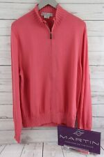 MARTIN 100% Luxury Italian Merino Sweater-Full Zip Cardigan NEW $49.99 Deep Pink